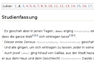 Screenshot der Studienfassung