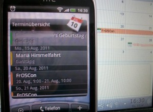 Android mit Tine20