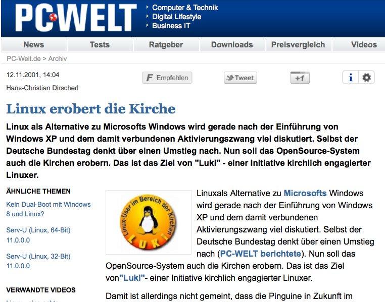 PC WELT online über LUKi