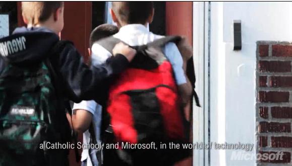 Screenshot aus einem Promotions-Video von Microsoft zum Deal mit dem OIEC