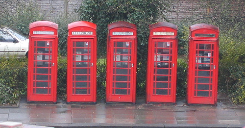 telephone boxes - By: Rich