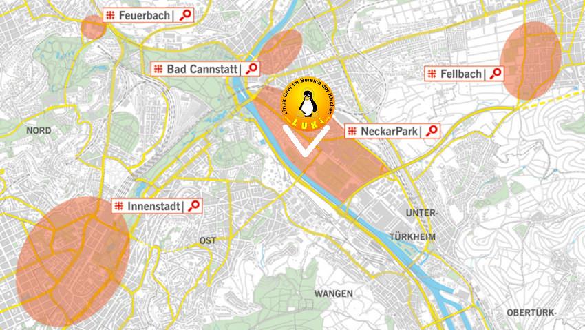 """Lage des """"Markts der Möglichkeiten"""" in Stuttgart"""