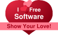Show Your Love - I love Free Software