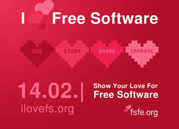 Aktion am 14.2. : I love free software