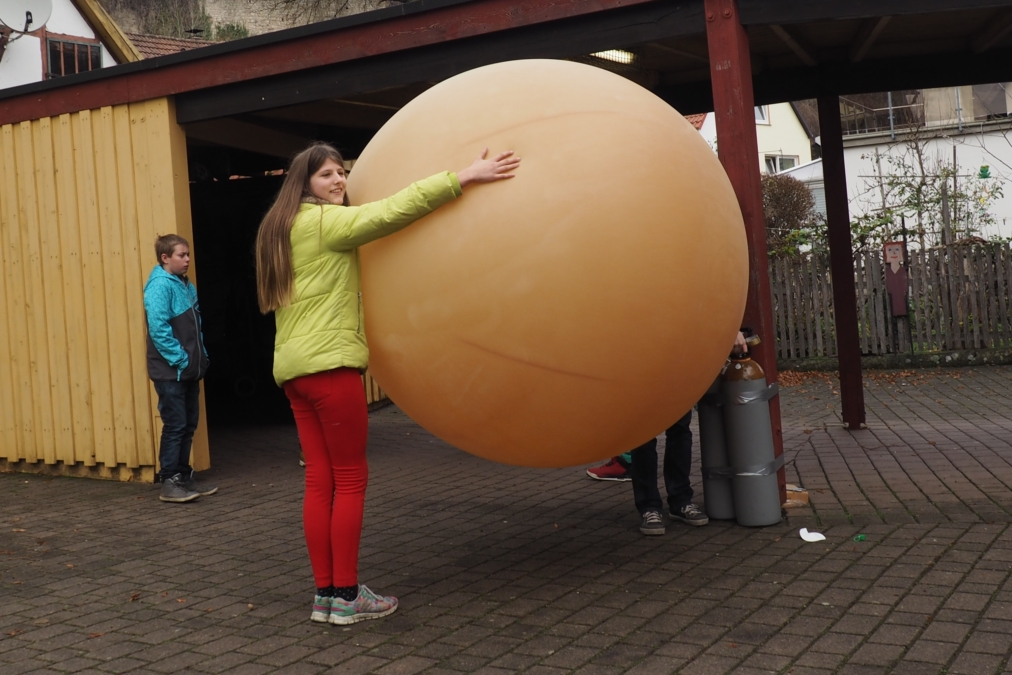 Befüllung des Ballon