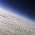Blick in die Stratosphäre. Ein geiles Blau
