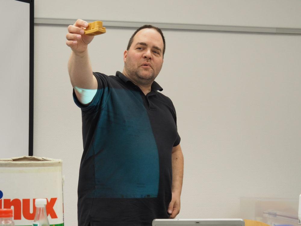 Klaus Knopper während seines Workshops