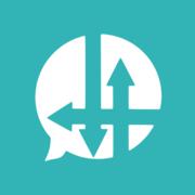 Synod.im Logo - drei Pfeile kreuzen sich in einer Sprechblase